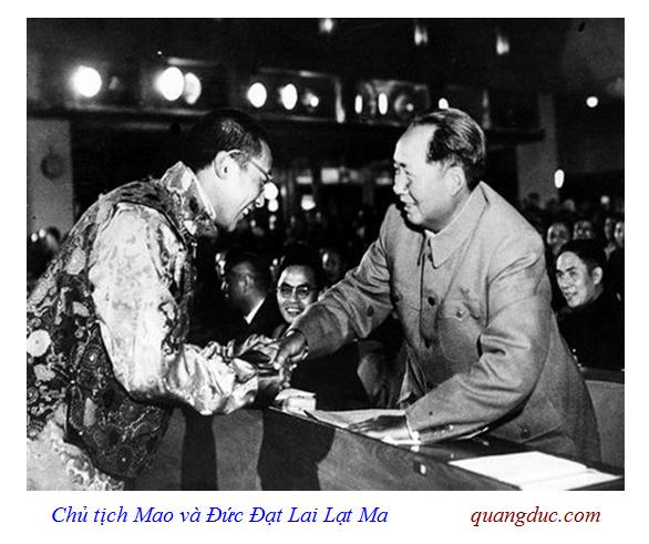 Dalai Lama and Mao Trach Dong