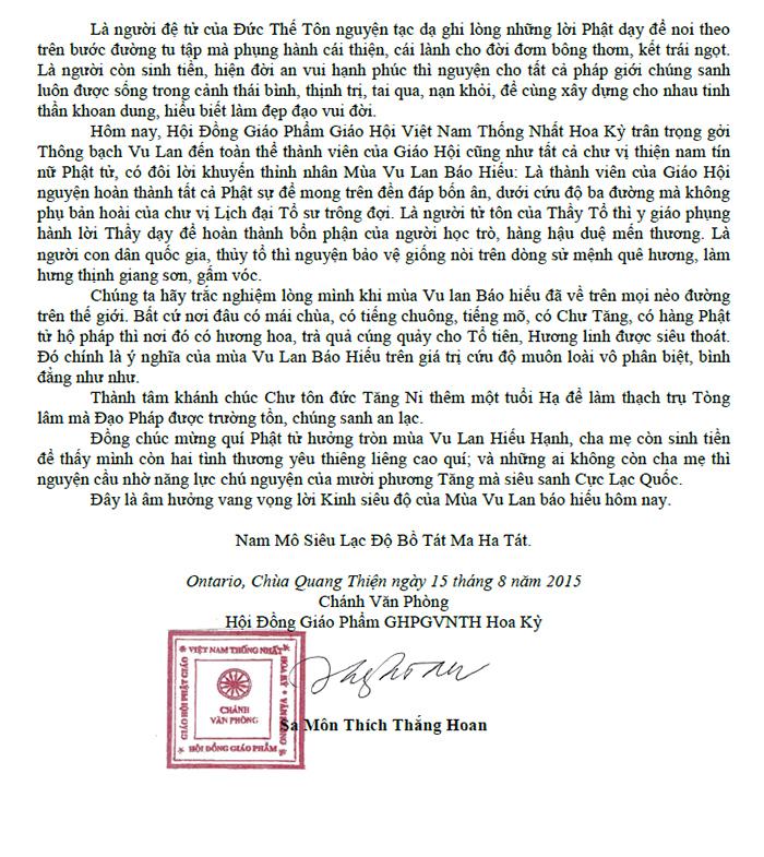 Thong Bach Vu Lan 2015_HT Thang Hoan_2