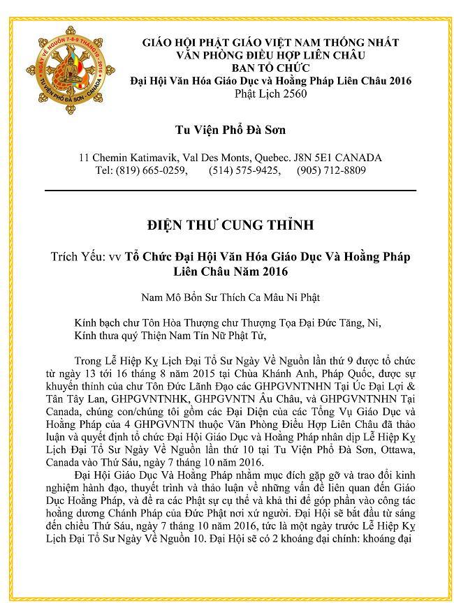 Thong Bach Dai Hoi Giao Duc Hoang Phap 2016_1