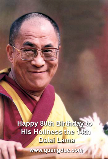 Happy Birthday His Holiness Dalai Lama