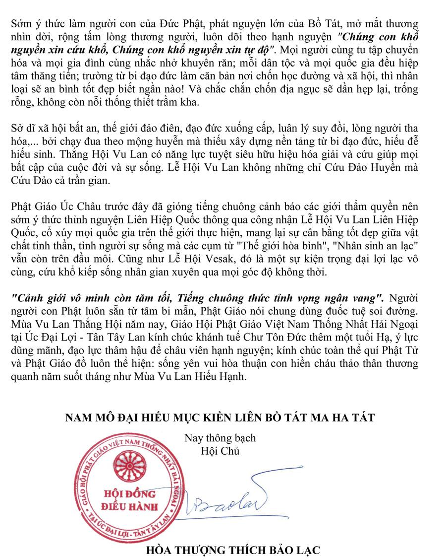 So 33-05 Thong Bach Vu Lan PL 2561   - PG Uc Chau-2