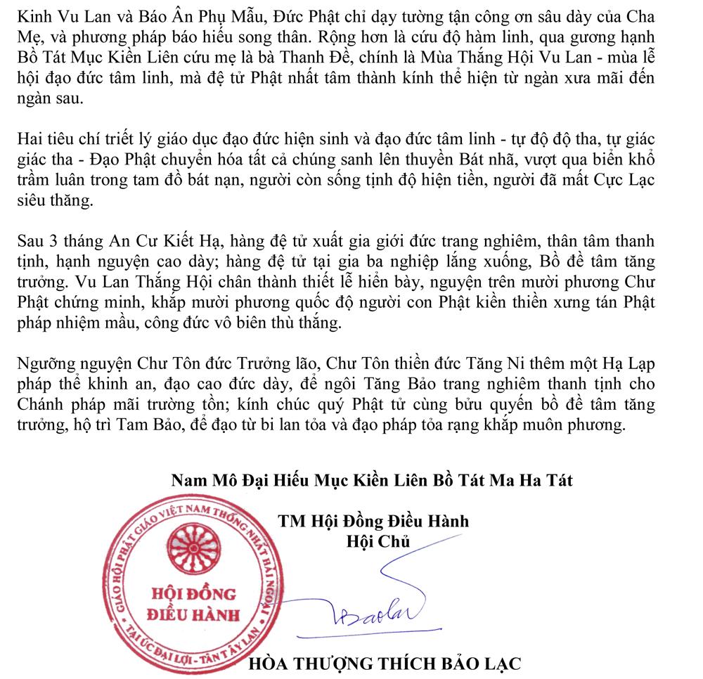Thông Bạch Vu Lan PL 2562_HT Hội Chủ Thích Bảo Lạc-2