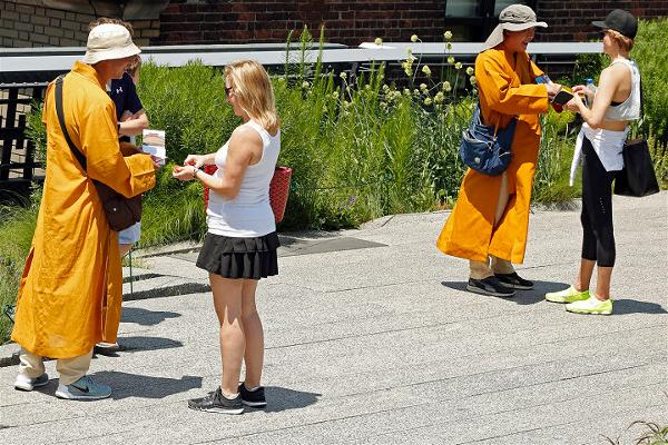 Fake Buddhists Monks in New York