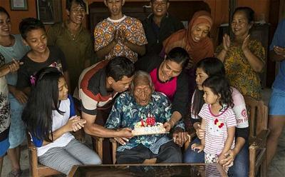 cu ong Mbah Ghoto 147 tuoi