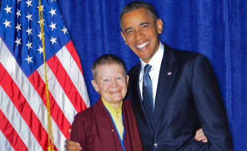 Smiles all around pema chdrn meets president barack obama on september 13th buddhist nun teacher and author pema chdrn had the opportunity to meet president barack obama there were as you can see m4hsunfo Image collections