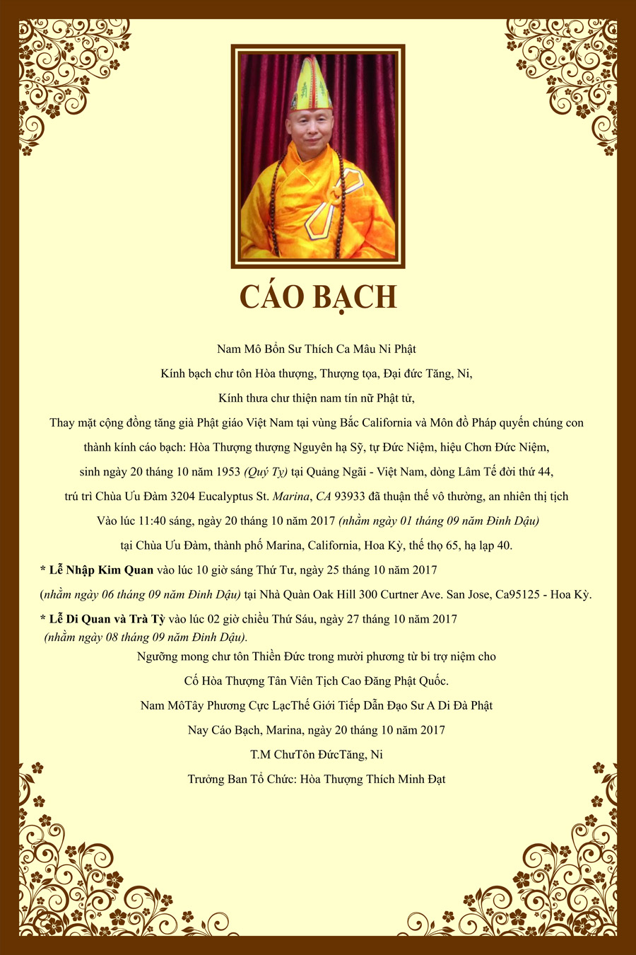 HT Thich Duc Niem_Cao Bach Tang Le