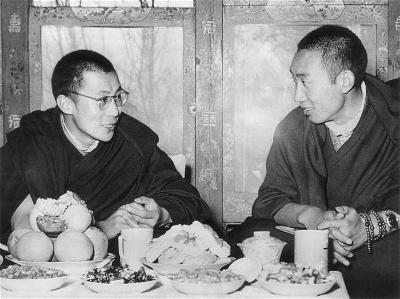 His Holiness the Panchen Lama and Dalai Lama