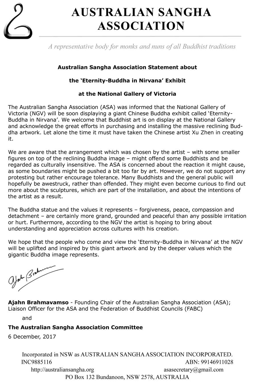 ASA statement re Eternity Buddha at NGV_1