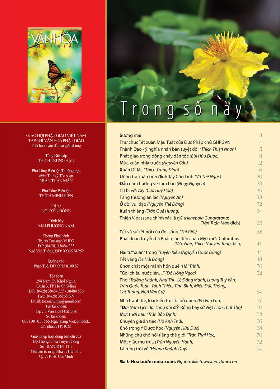 Văn Hóa Phật Giáo, số 290-291, ngày 01-02-2018-2