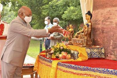 Tổng thống và Thủ tướng Ấn Độ Kỷ niệm ngày Đức Phật chuyển Pháp luân trong Đại dịch Covid